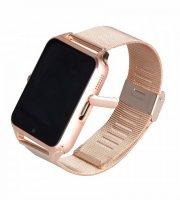 AphaOne fémszíjas okos óra, SIM kártya, magyar, beépített kamera arany