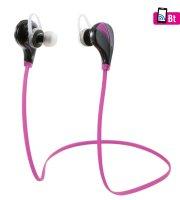 Bluetooth sport fülhallgató, pink