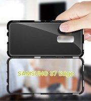 Mágneses, átlátszó Samsung telefontok Samsung S7 Edge
