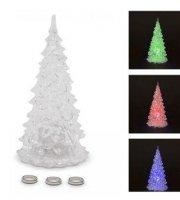 LED-es SZÍNES karácsonyfa, 17 cm