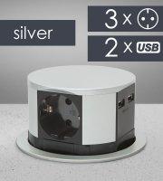 Elosztó -Rejtett- 3-as + USB
