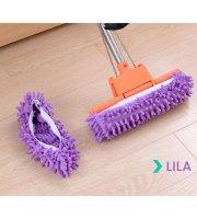 Cipőre húzható mikroszálas padlótisztító Lila
