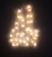 Karácsonyi LED ablakdekoráció - Gyertya