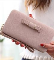 Női clutch táska Halvány lila