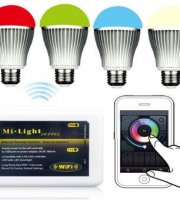 4 db Wifi vezérlésű LED izzó, E27-es foglalattal