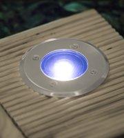 LED-es süllyeszthető, lépésálló szolár lámpa kör