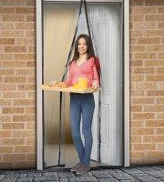 Szúnyogháló függöny ajtóra mágneses 100x210cm fekete