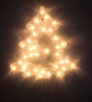 Karácsonyi LED ablakdekoráció - Fenyőfa