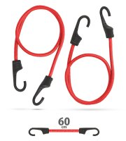 Professzionális gumipók szett - piros - 60 cm x 8 mm - 2 db / csomag