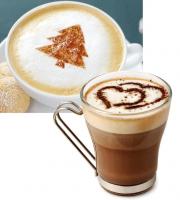 Cappuccino díszítő sablonkészlet