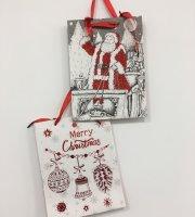 6 db Karácsonyi ajándékszatyor kicsi, 18 × 8 cm