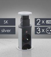 Rejtett elosztó 3-as, + USB szlovák