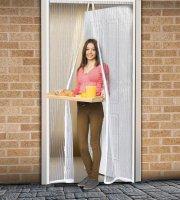 Szúnyogháló függöny ajtóra mágneses 100x210cm fehér