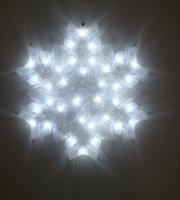Karácsonyi LED ablakdekoráció - Hópehely