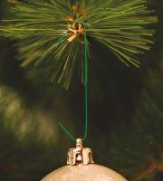 Szaloncukor akasztó - sötétzöld - 200 db / csomag