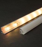 LED aluminium profil sín 2000 x 16 x 16 mm íves sarok profil