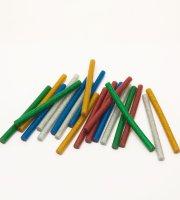 Ragasztórúd - 7 mm - színes, glitteres 20 db / csomag