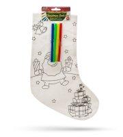 Színezhető mikulás zokni filctollal 33 x 24 cm
