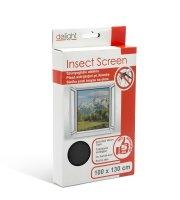 Szúnyogháló ablakra, fekete - 100x130 cm