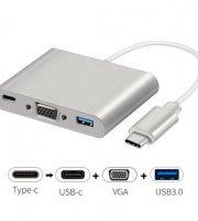 AlphaOne Type-C <> USB 3.0 ,USB C,VGA,