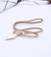 Extra strapabíró 1 méteres MicroUSB gyorstöltő és USB adatkábel - Arany