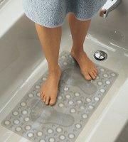 Fürdőszobai csúszásgátló 68 x 37 cm Átlátszó