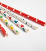 Papír szívószál - party - 195 mm - 25 db / csomag