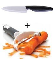 2 db-os Kerámia bevonatú kés és hámozó szett