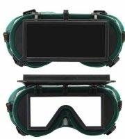 Hegesztőszemüveg, felhajtható védőüveggel