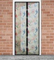 Szúnyogháló függöny ajtóra -mágneses- 100 x 210 cm - madár mintás