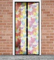 Szúnyogháló függöny ajtóra -mágneses- 100 x 210 cm - színes pillangós