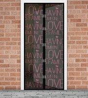 """Szúnyogháló függöny ajtóra -mágneses- 100 x 210 cm - """"Love"""""""