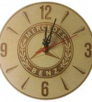 Egyedi fából készült fali óra – MERCEDES BENZ