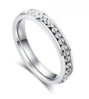 Nemesacél gyűrű cirkóniával (ES4315P)