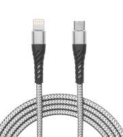 Adatkábel - iPhone Lightning - Type-C szürke - 2 m
