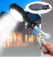 Napelemes LED utcai lámpa, mozgásérzékelővel, távirányítóval