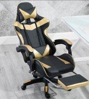 RACING PRO X Gamer szék lábtartóval - Arany-Fekete