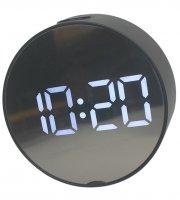 Tükör kijelzős kör alakú digitális ébresztőóra