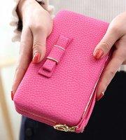 Női pénztárca, borítéktáska Rózsaszín