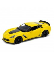 Welly Chevrolet Corvette Z06 2017 sárga kisautó, 1:24