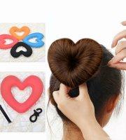 Szív alakú hajfánk, konty készítő