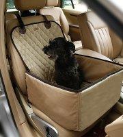 Autós kutyaülés (víz- és portaszító anyagból) Bézs