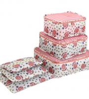 Bőrönd rendszerező, bőrönd rendező szett 6 db-os Rózsaszín