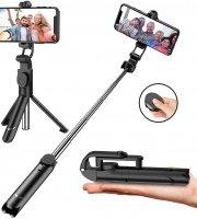 Teleszkópos selfie bot, tripod állvány funkcióval, exponáló gombbal