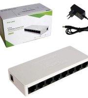 8 portos Switch, 10/100Mbps