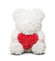 Rózsamaci - fehér - piros - 40 cm