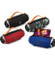 Hordozható bluetooth hangszóró, szilikon akasztóval, telefontartóval