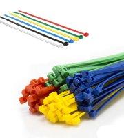 Kábelkötegelő szett-szines 4 féle méret