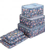 Bőrönd rendszerező, bőröndrendező szett 6 db-os Kék