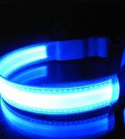 LED kutya nyakörv világító kutyanyakörv Kék L